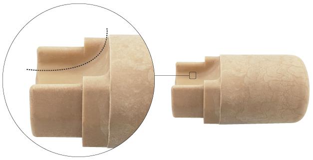Tapón escanciador de sidra forma curva